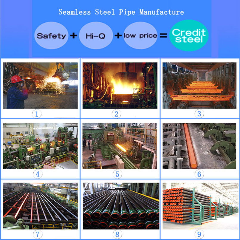 API 5L Seamless Steel Pipe For Casing and Tubing