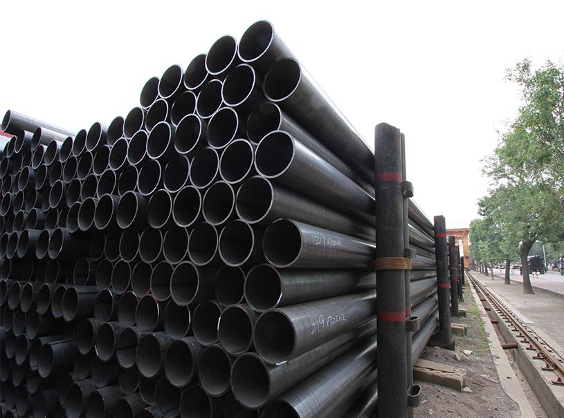 Tubos de acero huecos negros de alta calidad para la construcción de edificios de andamios