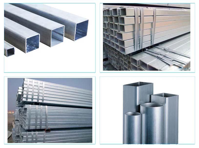 Cuadrado de sección hueco pregalvanizado y tubería de acero rectangular para construir