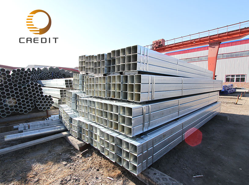 Mild steel galvanized pipe for furniture square tube